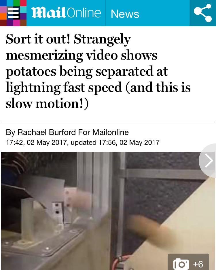 Daily Mail Online Visar Optical Sorter Video