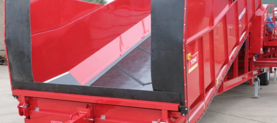 RUBBER LINED INFEED