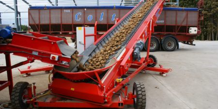 Potato Grading with Tong's Caretaker Mobile Vegetable Grader