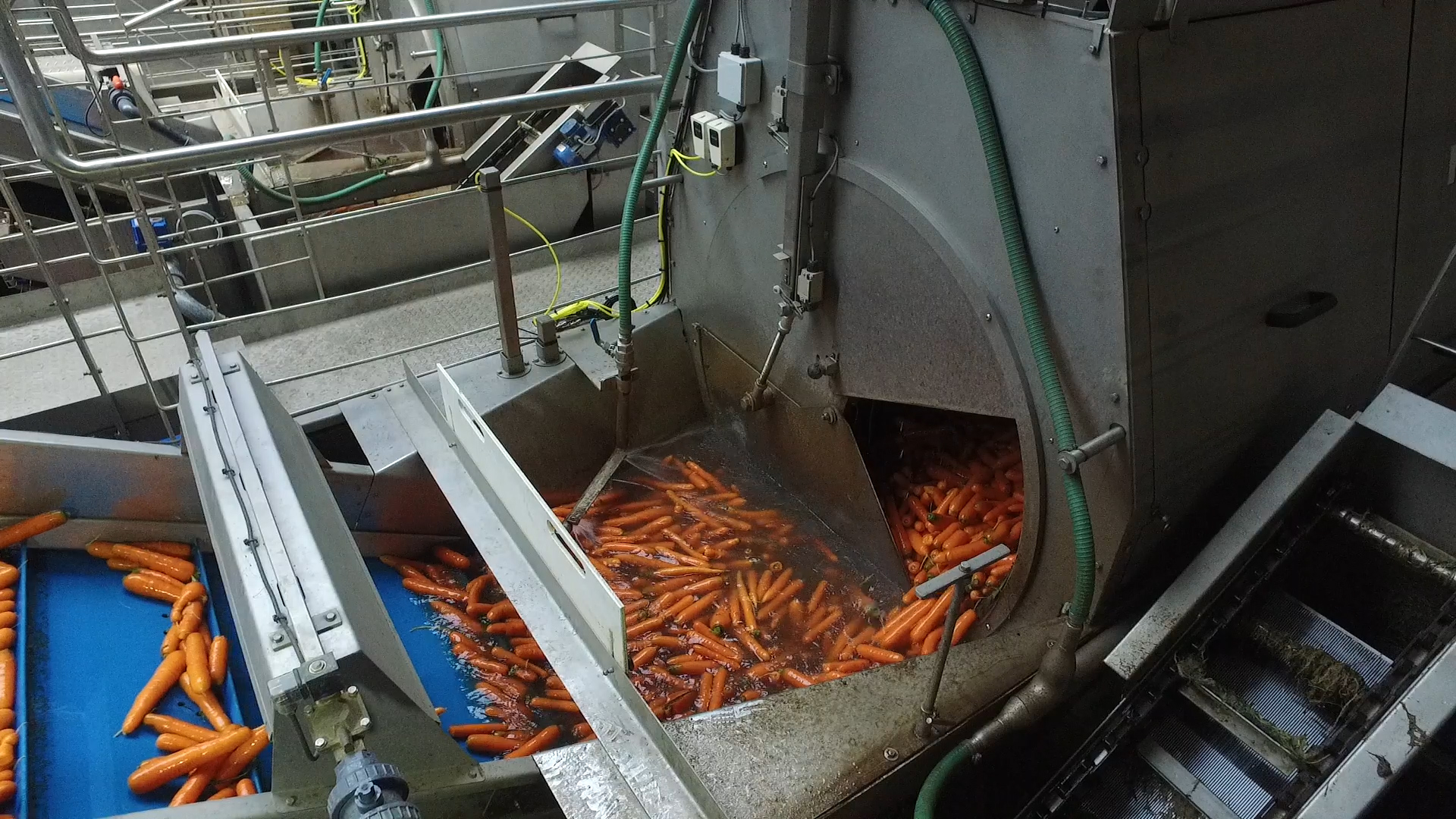 Tong carrot washing barrel washer polishing grading line (28)