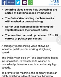 Daily Mail Visar Sortop Potato Optical Sorter Article (1)