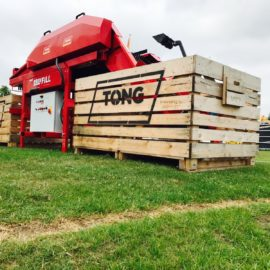 Tong demonstrates best selling EasyFill Box Filler at Potato Europe
