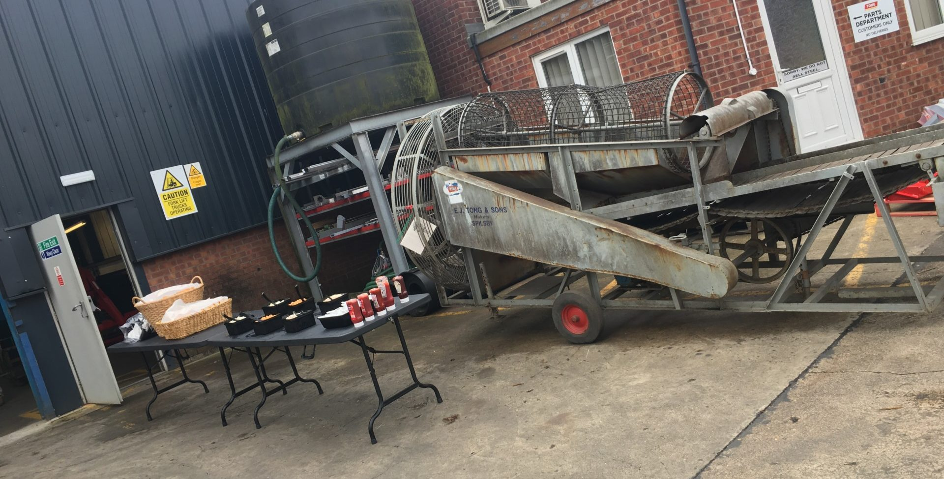 Tong Engineering Vintage Potato Sorter in company celebration